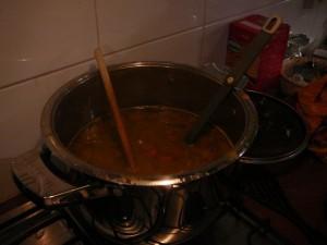 Erwten-pompoensoep - Pea-pumpkin soup