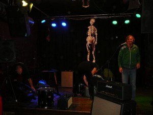 Preparing the stage