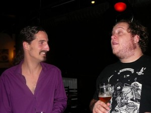 Rob & Billy (having a sneeze attack)