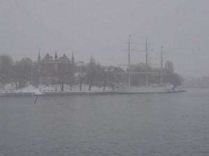 100 Skeppsholmen with af Chapman ship