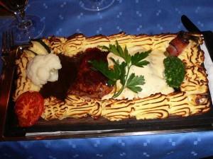 129 bazbos dinner - Plankstek