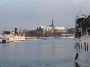 155 view on Djurgarden with Nordiska Museet