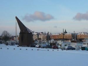 172 wooden crane at Skeppsholmen
