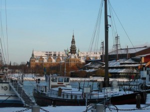 173 view on Djurgarden with Nordiska Museet and Vasa Museet