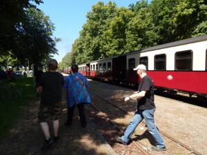 369 arrival at Rennbahn