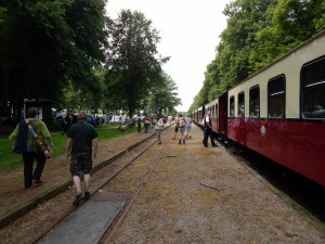 594 Molli arrives at Rennbahn