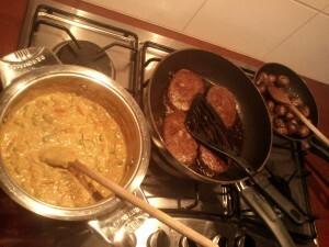 35 140909 curry van prei paprika peper erwten en room