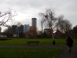 143 park aan de Koudekerkseweg met zicht op de boulevardgebouwen
