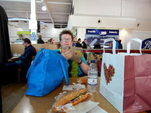 262 lunch at Luton Airport
