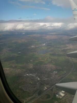 0034 vliegtuig naar Manchester