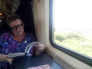 051 E in de trein naar Brussel