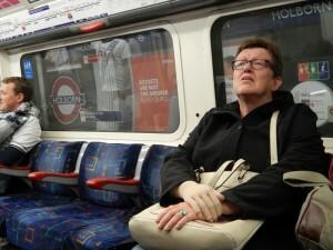 064 in de underground naar Hammersmith