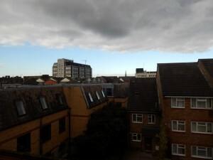 133 150927 Dag 3 zondag - uitzicht van hotelkamer