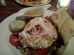 151219 406 lunchen - salade warme geitenkaas