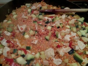 160107 023 kip met linzen courgette en peper