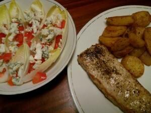 160304 320 schnitzel met witlof en paprika en blauwe kaas