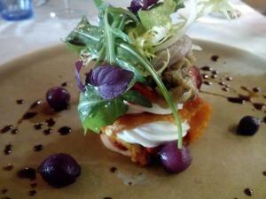 160409 039 taartje van gepofte paprika aubergine en geitenkaas