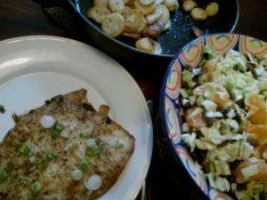 160514 202 gebakken scholfilet en spitskoolsalade