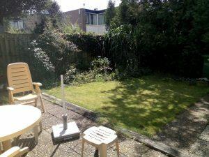 160704 050 gras net gemaaid in de tuin