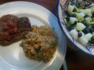 160810 144 biefstuk met paddenstoelenrisotto en wortel