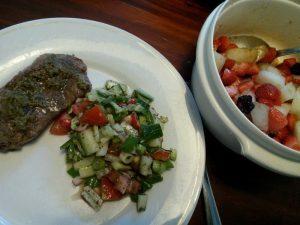 160918 425 lamsbiefstuk met salade