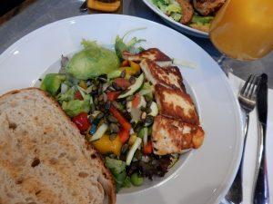 123 haloumi salad