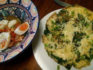161012 078 omelet met bosui en veldsla