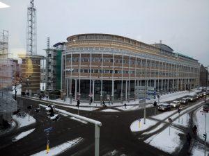 uitzicht vanaf de werkplek van vanmorgen